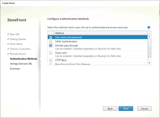 Storefront Authentication Method