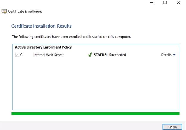 Certificate Enrollment Succeeded