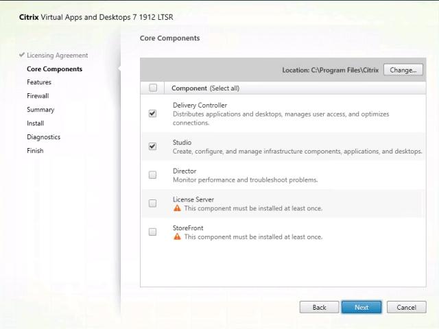 Citrix Delivery Controller Core Components