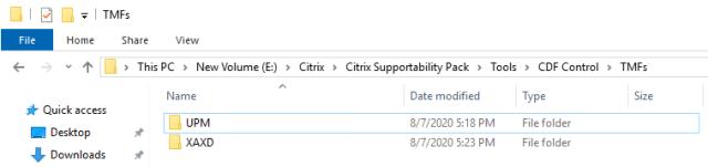 CDFControl TMF Files folder