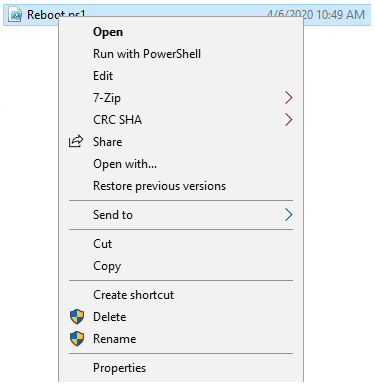 Scan with Microsoft Defender not available in Context menu