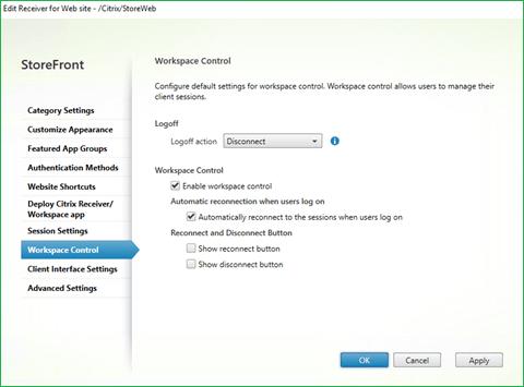 Citrix Workspace Control
