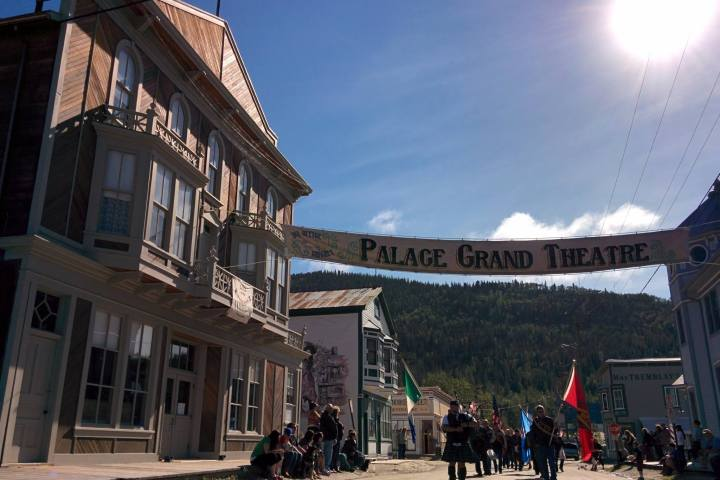 Start of discovery days parade in front of Palace Grand in Dawson City | Photo: Ben Sanders