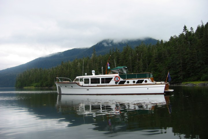 The Audrey Eleanor, in the calm after the storm.