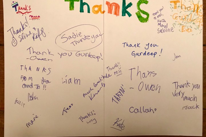 Card from Yukon Kids