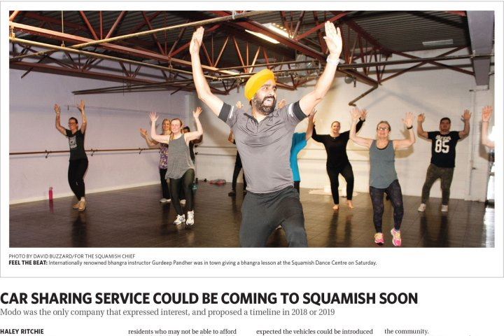 Gurdeep Pandher on Squamish Chief's front page