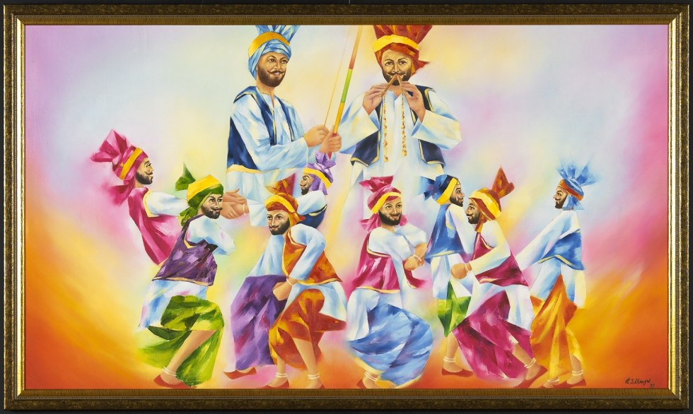 Boys from Punjab dancing bhangra