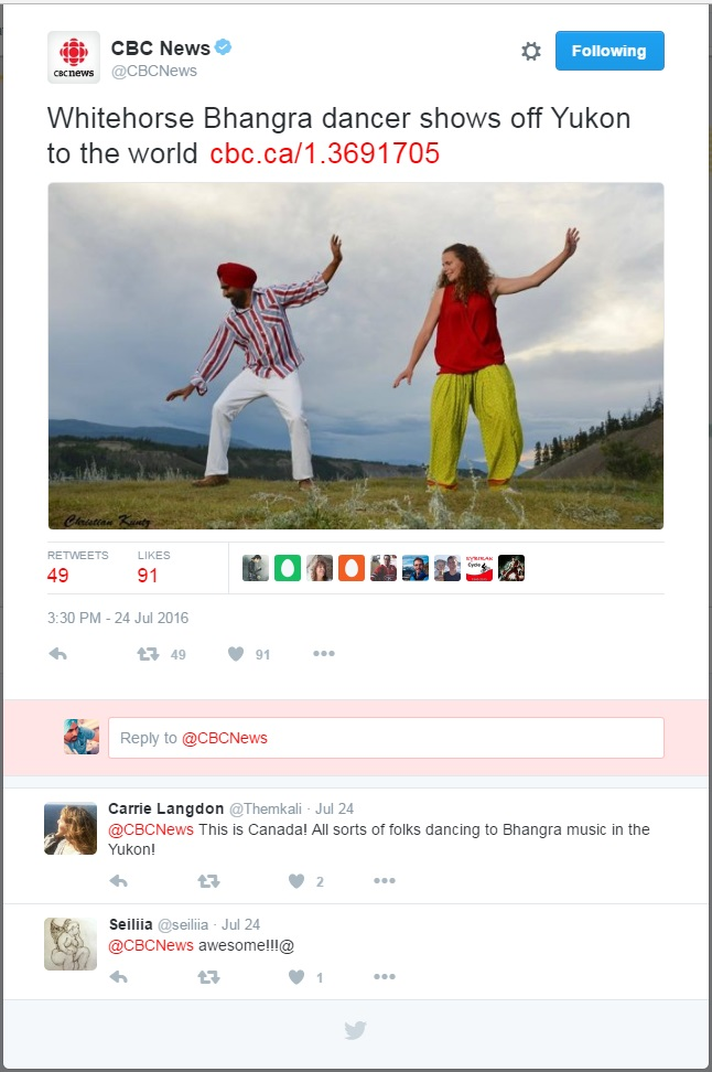 Tweet by CBC National