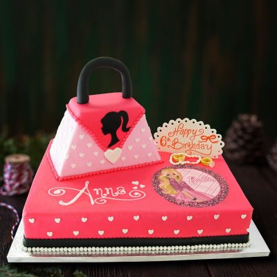 fashionista barbie cake
