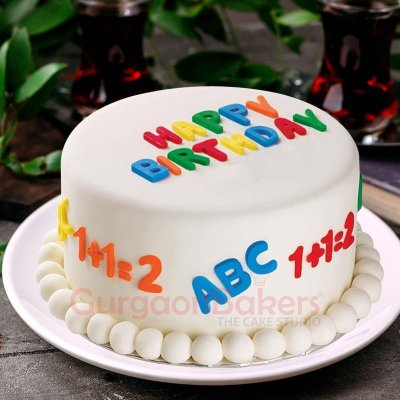 abc and 123 online cakes