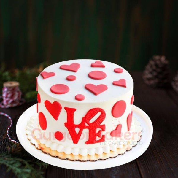 anniversary cake with love