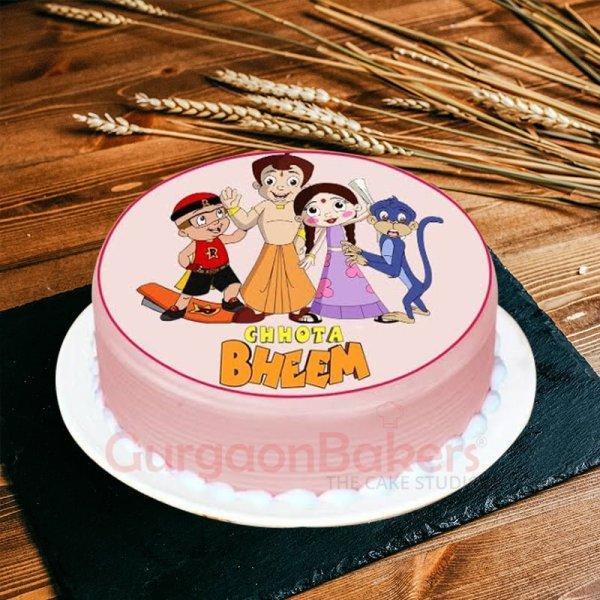 chhota bheem and close friends cake