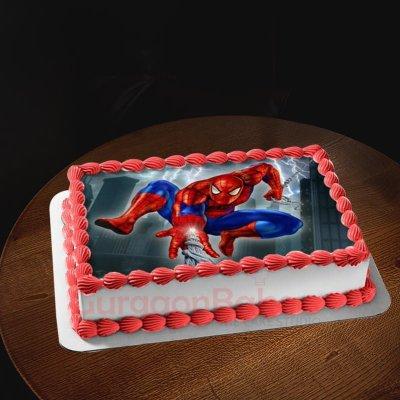 classic spiderman cake