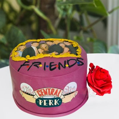f.r.i.e.n.d.s fan forever cake