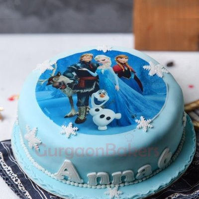 frozen characters cake