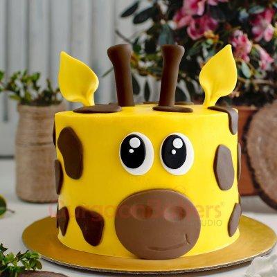 giraffe head cake
