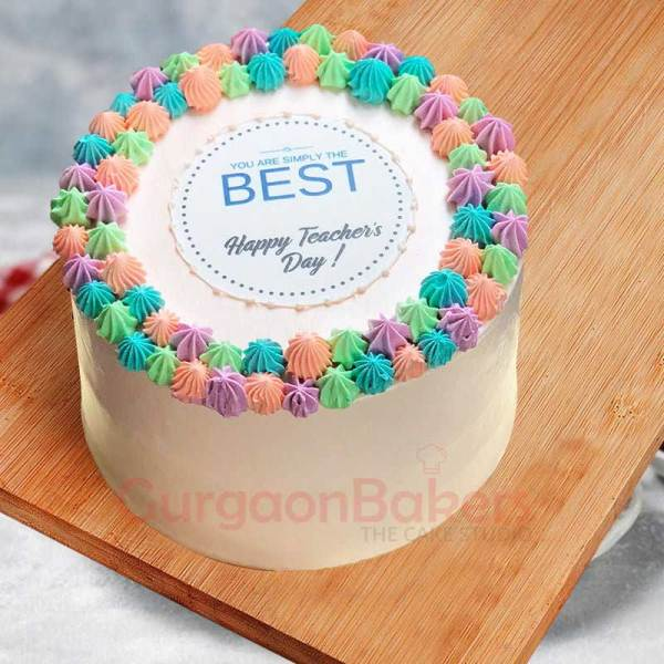 happy teachers day cake