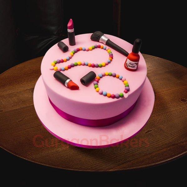 makeup lovers birthday cake