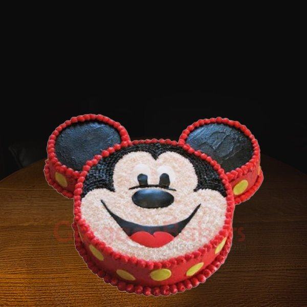 mickey grin cake