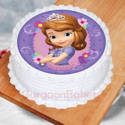 no fondant sofia the first birthday cake
