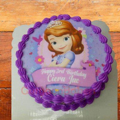 pretty sofia the first cake
