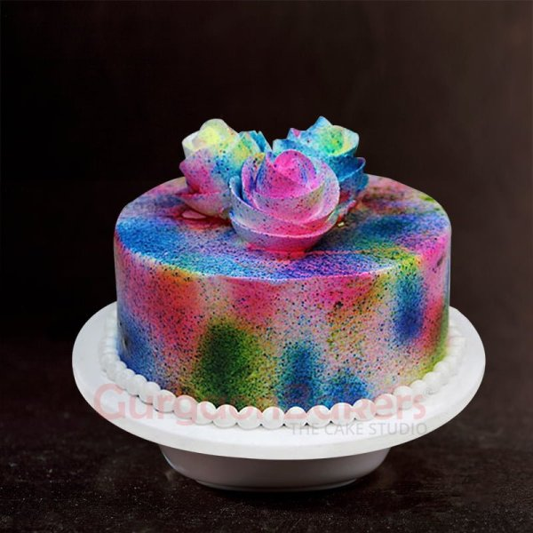 special colour splash cake