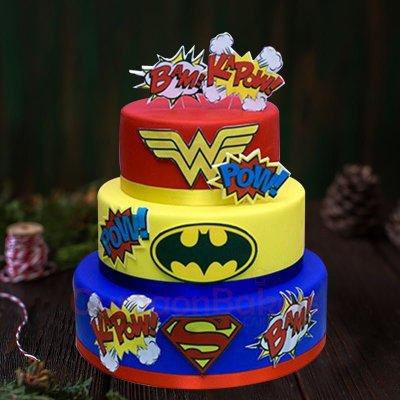 superhero medley cake