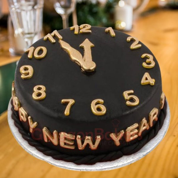 tick tock midnight cake