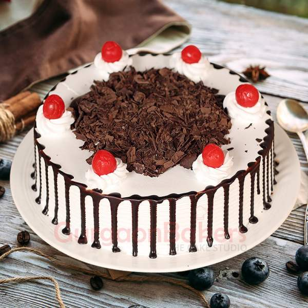 black forest chocolate drizzle cake