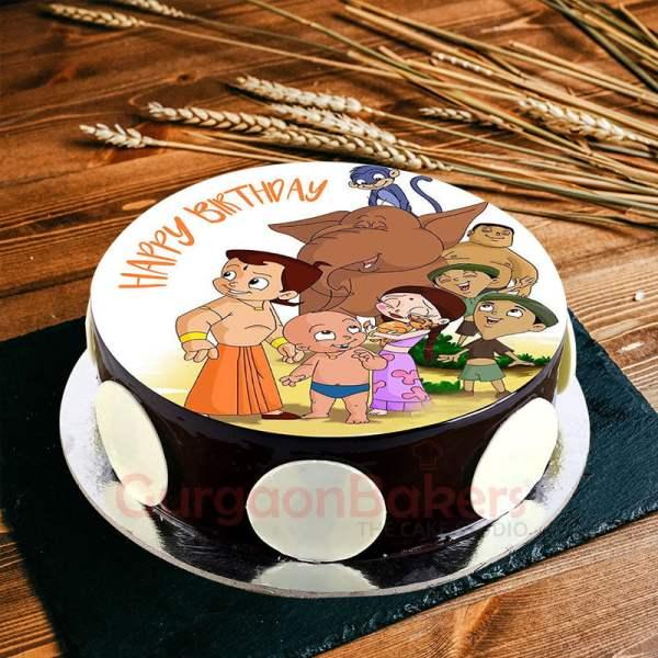 chotta bheem and friends cake