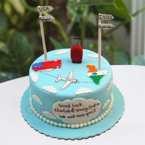 goodbye farewell cake