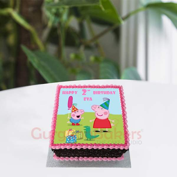 peppa and george chocolate party cake