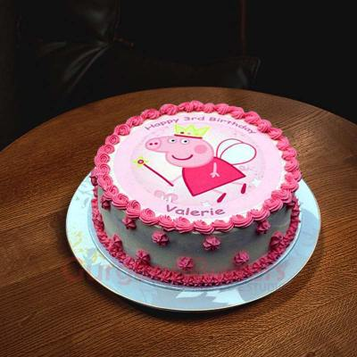 peppa pig tooth fairy cake