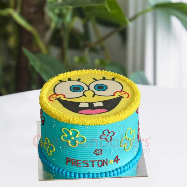 spongebob novelty cake