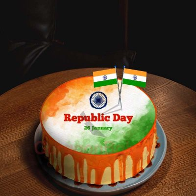 sweet drips indian flag cake 1