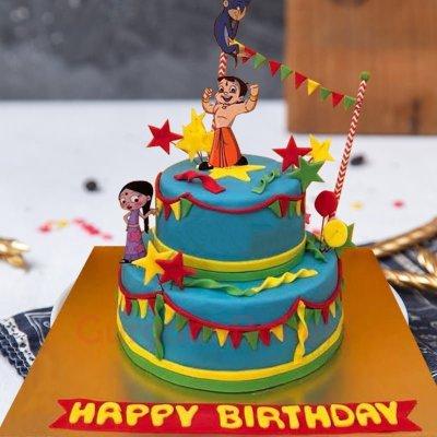 chhota bheem and chutki party cake