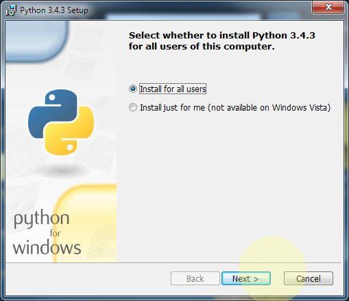 Python kurulumu