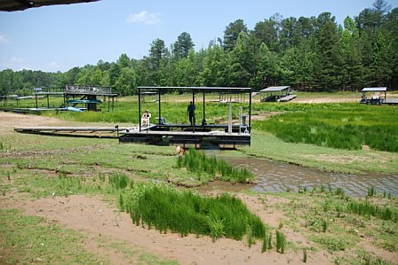 Lake Lanier drought 15 feet below full pool