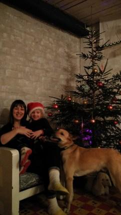 Вероника с Миной и псом Кусти