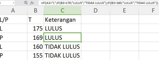 Hasil pertama jika perbandingan anda benar dan hasil kedua jika perbandingan salah. Rumus If Excel Tunggal Bertingkat Contoh Rumus Guru Belajarku