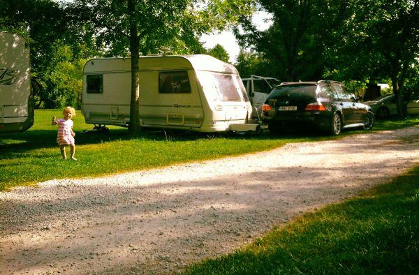 Caravan in Croatia and BMW