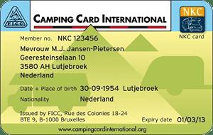 CCI Camping Card