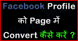 Facebook Profile to page conversion