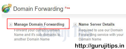 Domain Forward steps in Bigrock