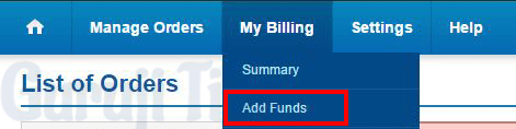 Add Money in Bigrock