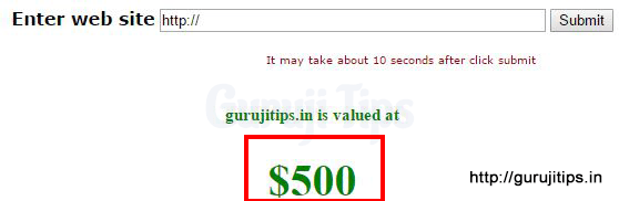 Domain Value of GurujiTips