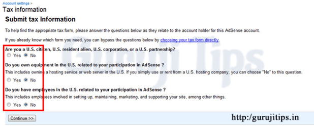 adsense tax information