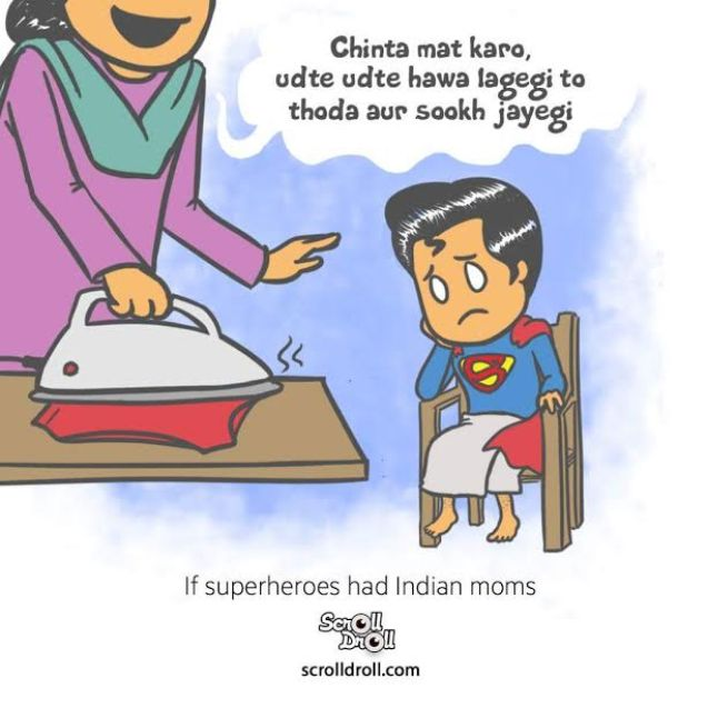 Superman and Indian mom