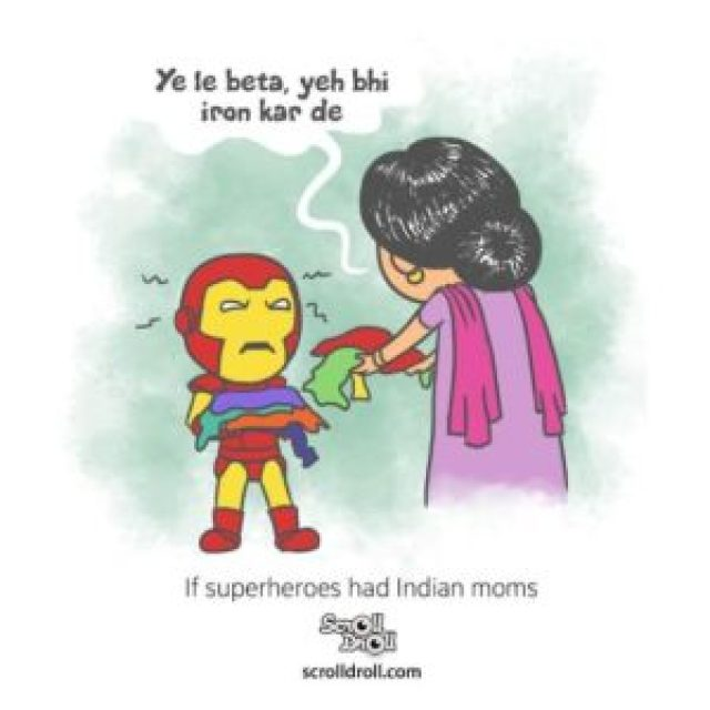ironman and Indian mon