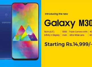 Samsung Galaxy M30 Specifications Price India